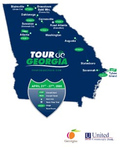 Sixth Annual Tour de Georgia Reveals 2008 Route, Host Venues and New Beneficiary for Spring Event