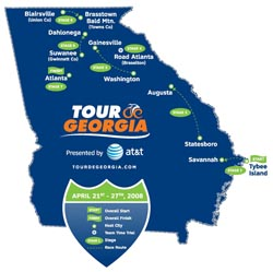 Detailed Route Revealed for 2008 Tour de Georgia Presented by AT&T