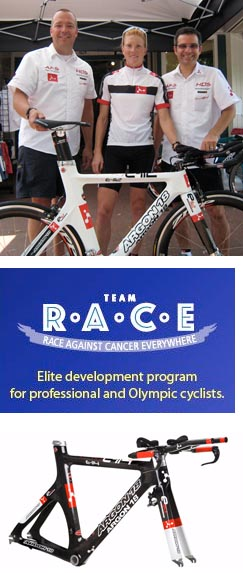 Sam McGlone and Team R.A.C.E Pro with Argon 18