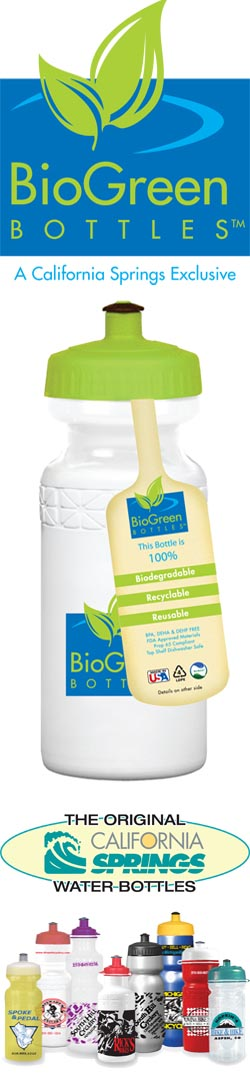 Bio-Degradable Bike Bottles offered by California Springs - an Industry First