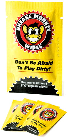 Kong Concepts Introduces Grease Monkey Wipes  for On the Go Grease Removal Without Water