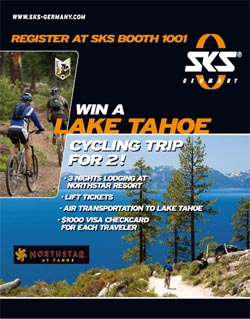 SKS holds Lake Tahoe cycling trip giveaway at the upcoming Interbike Show in Las Vegas