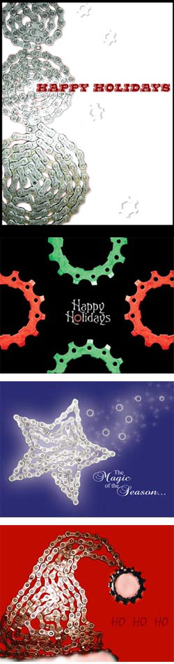 Gear Up for the Holidays With Bike Themed Cards