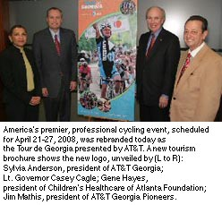 AT&T Becomes Presenting Partner for 2008 Tour de Georgia