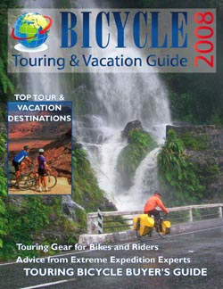 Free 2008 Bicycle Touring & Vacation Guide  to Target Upscale Cyclists